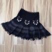 Tutu Mini Skirt Hollow Out Elastic High Waist Large Size Draped Skirts Female 2018 Summer Fashion Sexy Clothing