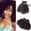 Unprocessed 7A Mongolian Virgin Hair 3 Bundles Afro Kinky Curly Hair Highly Recommended Hair Bundles New Arrival Fashion Style