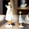 American country angel mother&daughter Elf resin crafts figurines Cafe bar window props home decorations ornaments