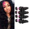 Indian Loose Wave 4 Bundles100 Indian Human Hair Weaving Loose Wave Unprocessed Grade 7A Indian Remy Hair Extensions
