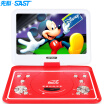 SAST FL-128D portable mobile DVD player Qiaohu dvd player old man singing theater video player CD usb player 101 inches red