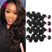 7A Indian Virgin Human Hair Body Wave 4 Bundles Unprocessed Human Hair Indian Hair Weave Bundles Indian Body Wave Virgin Hair