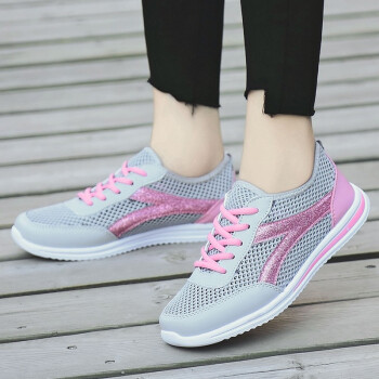Summer net shoes womens breathable hollow mesh sports mesh shoes casual shoes mesh lazy shoes womens shoes tide
