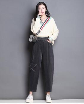 Corduroy pants baggy Korean version of harun pants radish pants casual pants long pants pants down pants
