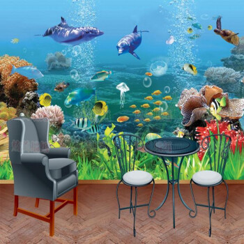 Custom photo wallpaper 3D mural custom cartoon wallpaper ocean underwater world childrens room TV background wallpaper mural