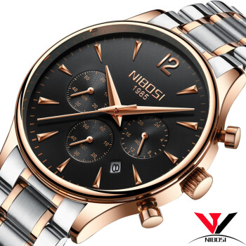Quartz Wristwatch Male Watch Luxury Brand Dress Watches Luxury Waterproof Watch Stainless Steel Case Black Clock Saat Reloj