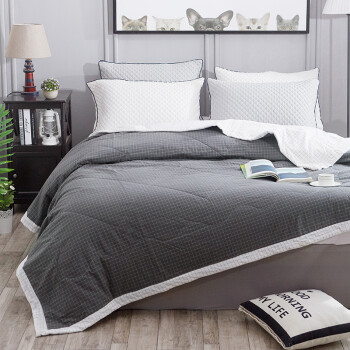 Elder quilt home textiles cotton washed cotton cotton summer air conditioning was summer cool towel summer summer thin core 152 meters pick light gray
