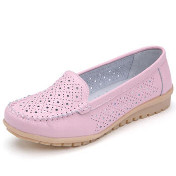 2018 Spring women flats shoes women genuine leather shoes woman cutout loafers slip on ballet flats ballerines flats