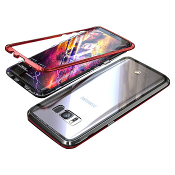 Metal Armor Case sFor Samsung S8 Bumper Transparent Glass Cover sFor Samsung Galaxy S8 Bumper Case For Samsung Galaxy S9 Plus