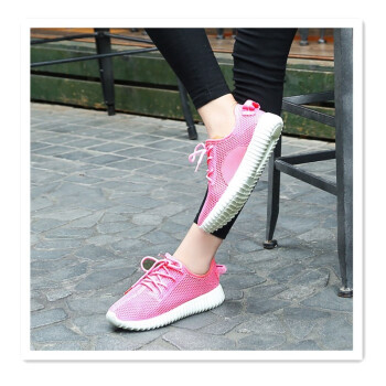 Korean version of the hollow mesh casual shoes flat shoes single shoes mesh shoes breathable mesh light travel shoes