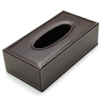UpperX Portable Leather Rectangular Tissue Cover Box Holders Case Pumping Paper Hotel Home Car Gift Brown