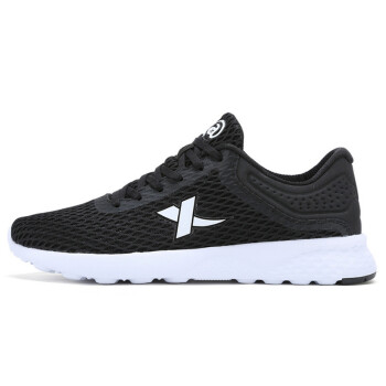 XTEP sports shoes couple male models net breathable simple breathable comfortable men running shoes casual shoes black 39 yards