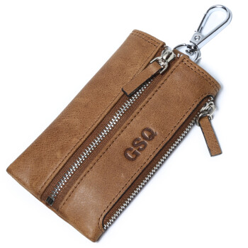 GSQ Gu Siqi fashion couple key case wallet man first layer leather wallet package wallet retro retro wallet wallet Y27 brown