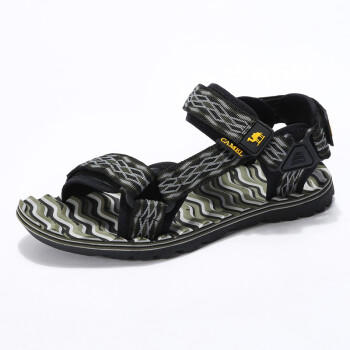 Camel camel camel outdoor couple beach shoes couple lovers Velcro skid comfortable sandals male A722162287 gray 43
