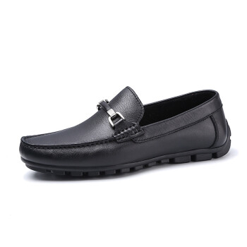 Crown CROWN Men&39s shoes leather shoes life Shoe cover feet round head light comfortable shoes 4121A621R2-black -40 yards