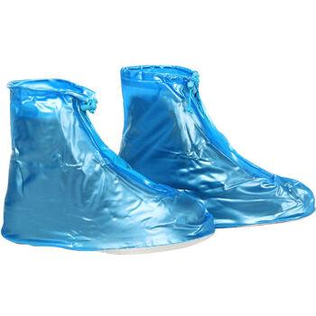 K-BOW Rainproof Shoe Cover Rain Shoe Cover Men&39s&Women&39s Shoe Cover Waterproof Rainproof Dustproof Shoe Cover Anti-skid Boots Thicker Wear-resistant Raincoat Cover Blue 36-39