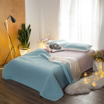 Welcome Xin was home textile washed cotton quilted summer Pillow three-piece summer cool air-conditioning is summer thin quilt apply 18 m bed blue green