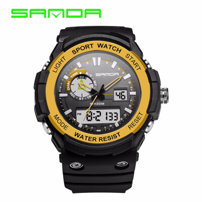 SANDA Brand New Luxury Watch Men LED Digital Waterproof Wristwatch Fashion Casual Shock Military Sport Watches relojes hombre