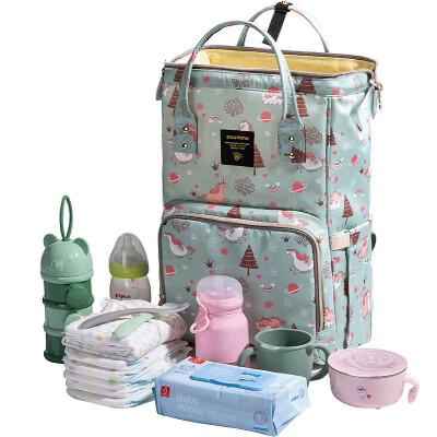 Sammi baby Mummy bag multi-function large capacity backpack mother bag dream sky