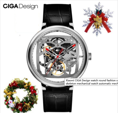 CIGA Design watch round fashion creative waterproof ultra-thin business skeleton mechanical watch automatic mechanical watch men&women