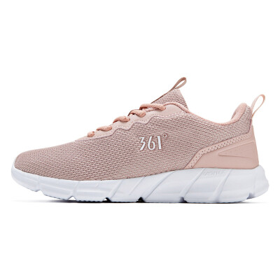361 degrees womens shoes sports shoes 2018 new breathable shock absorption cherry blossom pink casual running shoes 681832280-2 pink rose 361 degrees white 35