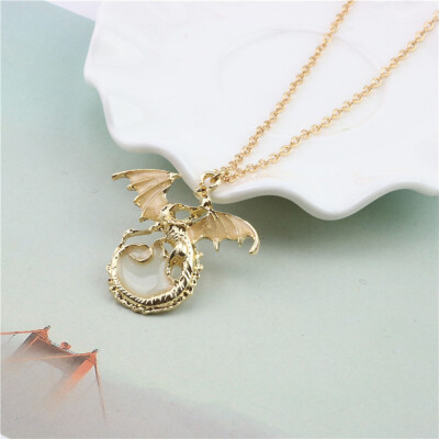 Luminous Dragon Necklace Women Fashion Personality Pendant Alloy Necklace Party Jewelry Accessory Gift