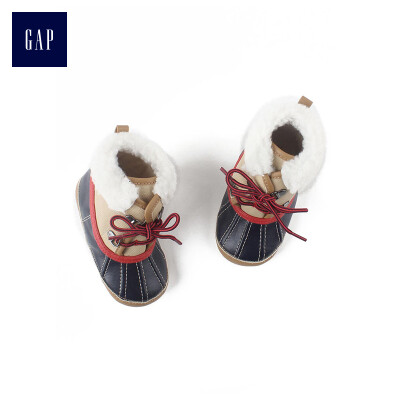 GAP flagship store childrens shoes baby flat boots snow boots 400090 winter mens baby low boots cotton boots ginger sugar color 110CM 6-12 months