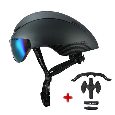 Cycling Helmet Adult MTB Road Bike Safety Helmet Lightweight Sports Protective Equipment with Detachable Goggle Extra Lining
