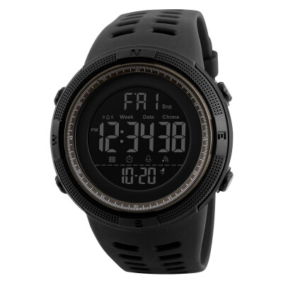 SKMEI Men Sports Watches Countdown Double Time Watch Alarm Chronograph Digital Wristwatches 50M Waterproof Relogio Masculino