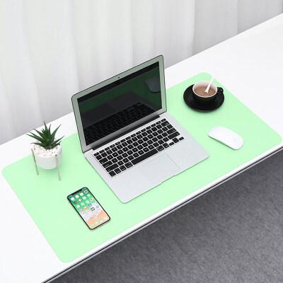 BUBM mouse pad oversized office desk pad laptop pad keyboard pad office desk table mat home mat waterproof support large custom matcha green sky blue medium