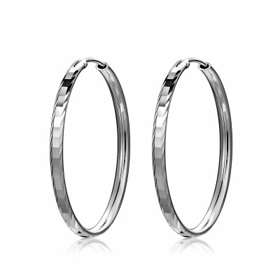 Personality Circle 925 Sterling Silver Female Fashion Exaggeration Jewelry Accessories Creative Hoop Earrings for Women Girls