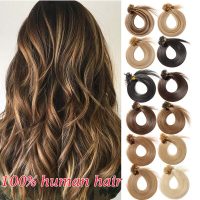 Invisible NailU Tip Glue Real Remy Human Hair Extensions Real Soft Hair Extensions 1 Piece100 Strands
