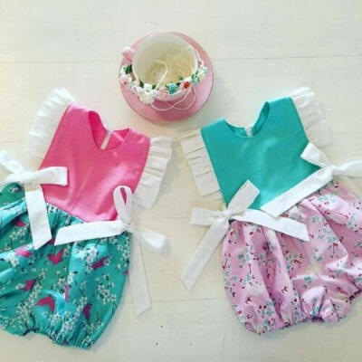 Newborn Infant Baby Girl Clothes Sleeveless Romper Jumpsuit One Piece Outfit New