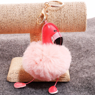 Outdoor Flamingo Keychain Bag Car Pendant
