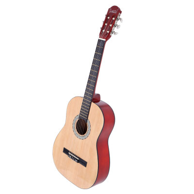 Glarry 38 inch Spruce Front Cutaway Classic Guitar with Bag