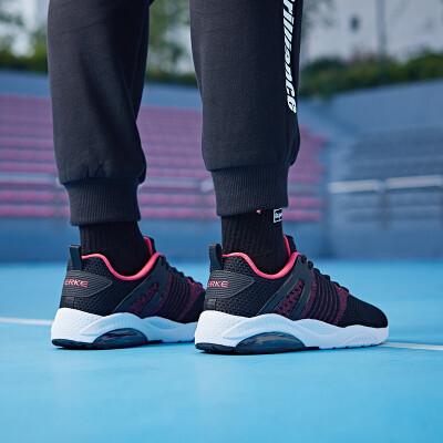 Hongxing Erke womens shoes casual fashion student sports shoes female half palm cushioning cushion female running shoes 52118320107 triangle plum red positive black 38