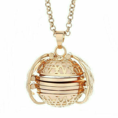 Expanding 5 Photo Locket Necklace Magic Ball Angel Wing Pendant Memorial Gift