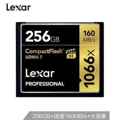 Lexar 256GB read 160MBs write 155MBs CF memory card 1066x MLC particles conform to VPG-65 UDMA7