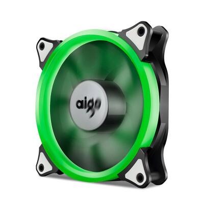 Aigo Halo Yellow LED Ring Fan 120mm 12cm PC CPU Computer Case Cooling Neon Quite Clear Fan Mod 4 Pin3 Pin