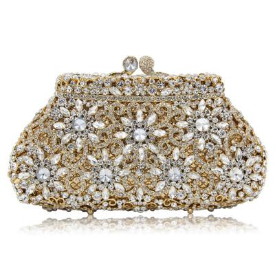 Milisente Мода ёенщин цветок кристалла Вечерние сумки свадьба муфты кошелек участник мешок