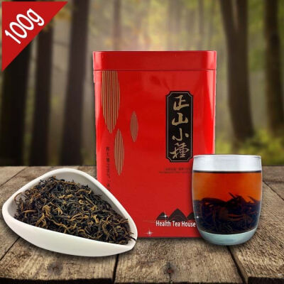 AAAAA Lapsang Souchong Black Tea without Smoked Flavor 100g Chinese Smokehouse Good Taste Smoked Red Tea