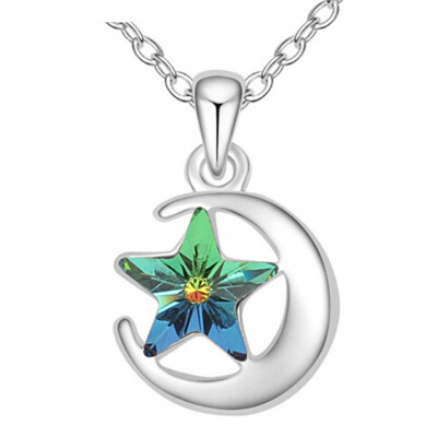 Fashion Jewelry Austria Crystal from Swa Moon And Stars Necklace Pendants Womens Accessories Party Gift -15075