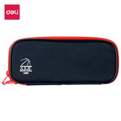 Deli deli multi-function large-capacity pencil case multi-layer pencil storage bag deep sea blue 66667