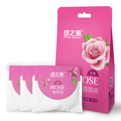 Green heart rose fragrance bag wardrobe aromatherapy fragrance indoor essential oil sachet in addition to flavor sachet 10g 6 bags