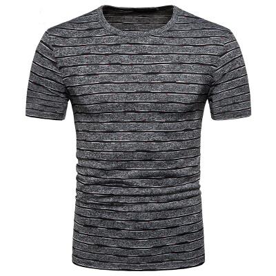 JCCHENFS 2018 New Short Sleeve Men T-Shirt Fashion Striped O-Neck Streetwear Summer Short Tops Tees Fitness Mens Brand Clothing