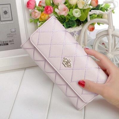Fashion Women Lady PU Leather Clutch Wallet Long Card Holder Purse Handbag