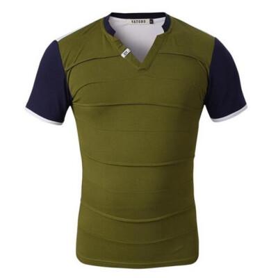 Zogaa New Mens T-Shirt Slim V-neck