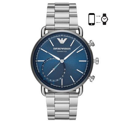 Emporio Armani watch 4th generation new light luxury fashion business Europe&America smart watch ladies watch quartz stainless steel belt Jingdong self-operated new ART3027