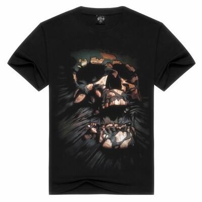 New Fashion Summer Casual Designer 3D T Shirt Skull WomenMen Unisex O-neck Short Sleeve Tops Blouse
