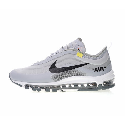 Original New Arrival Authentic OFF White x Nike Air Max 97 Mens Comfortable Running Shoes Sport Outdoor Sneakers AJ4585-001